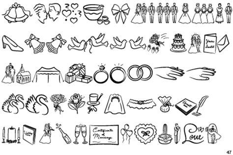Wedding Font Dingbats by Identifont Wedding Wishes Bv