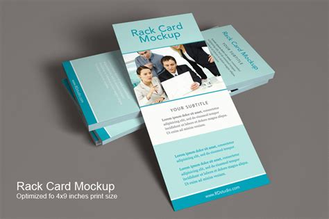 free rack card psd templates rack card mockup product mockups on creative market