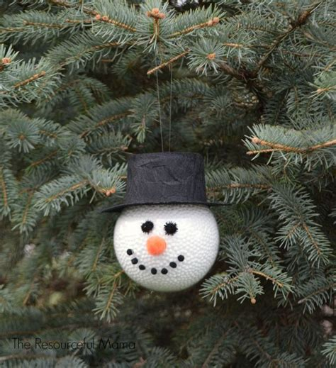 hometalk frosty  snowman homemade ornament