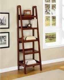 new ladder style wooden bookcase shelving wood display