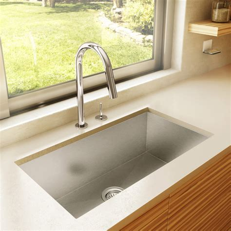 Kitchen Sinks Vancouver 29 Inch Zero Radius Style Stainless Steel Mount Kitchen Sink Kus2918s In Vancouver