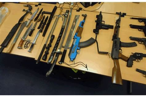 arsenal of weapons arsenal of weapons seized by police in bolton manchester