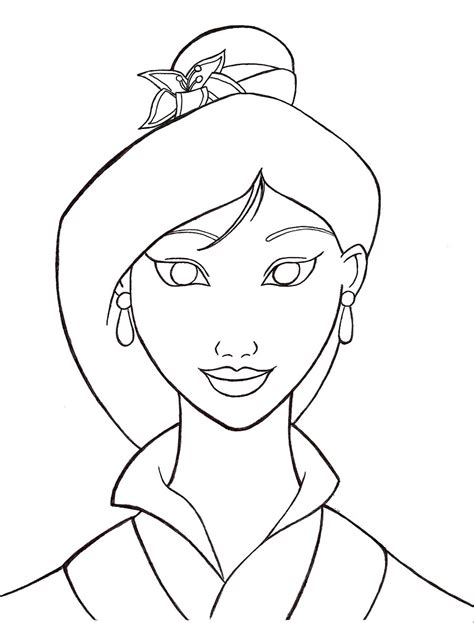 printable mulan coloring pages coloring me