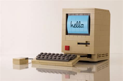 Laptop Apple Original original apple macintosh computer built out of lego by