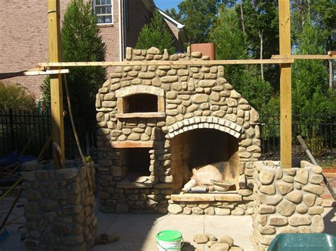 outdoor fireplace pizza oven combo el rancho