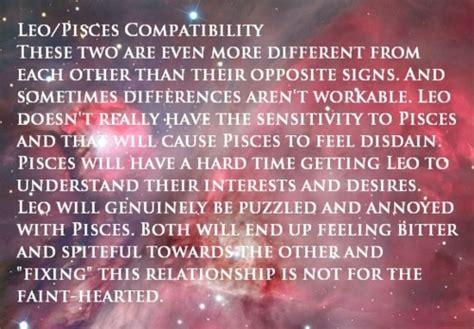 zodiac maniac leo pisces compatibility