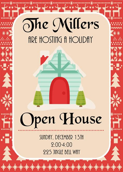printable open house invitations diy printable holiday open house christmas party invitation