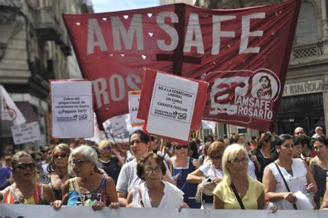 propuesta salarial amsafe rosario trabajadores de la amsaf 233 rosario anticipa m 225 s paros y un quot lio rechazo quot a