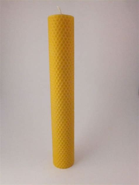Handmade Pillar Candles - handmade rolled beeswax pillar candle 10in x 1 5 8in
