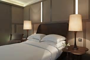Modern bedroom interior design with two lamp