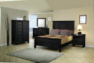 black panel bed 5 pc bedroom furniture