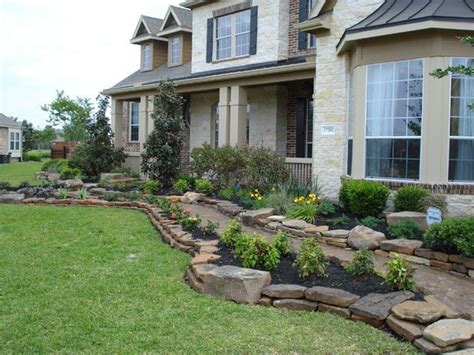landscaping with boulders front yard landscape with stack moss rock and boulders 640x480 jpg 640 215 480 garden