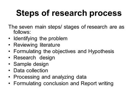 what are the steps in writing a research paper research methods ppt
