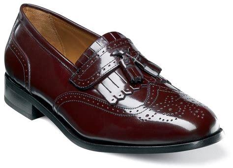florsheim s brinson slip on tassel leather loafer