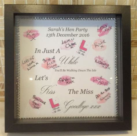 kiss the miss goodbye hen party gifts bride to be gift