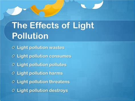 Light Pollution By L And J Nicoloro Ppt