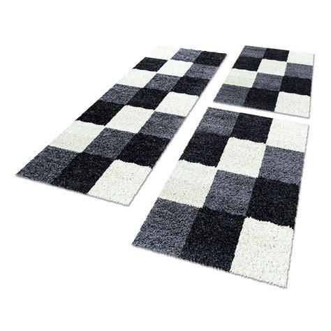 bettumrandung teppich bettumrandungen hochflor designer shaggy kariert l 228 ufer