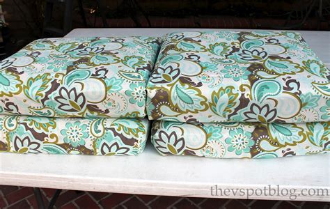 fabric for outdoor furniture cushions diy how to recover outdoor furniture with a glue gun