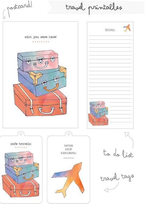 Muster Schreiben An Gläubiger free printable travel tags and cards memory keeping