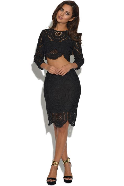 Set Lace Top luxe 2 lace top and skirt set
