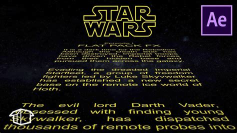 How To Make Horizontal Star Wars Title Crawl Template After Effects Cs6 Youtube Wars Crawl Powerpoint