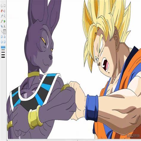 imagenes de goku vs bills dibujando a goku vs bills dragon ball z drawing goku vs