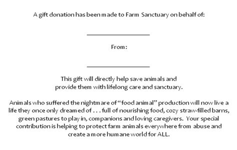 Fundraising Letters In Memory Of Someone in honor and memory farm sanctuary