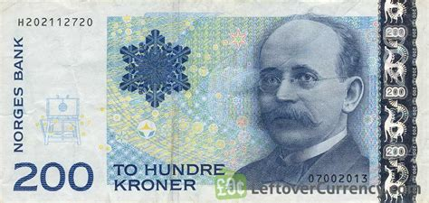 currency nok 200 kroner kristian birkeland exchange yours