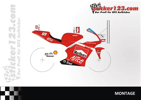 Ducati Martini Aufkleber by Sticker123