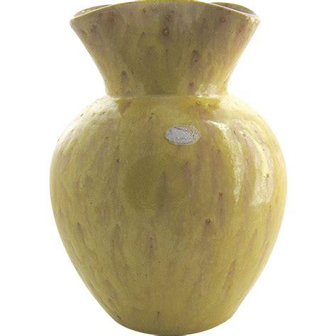 Mustard Vase Mid Century Nittsjo Sweden Mustard Yellow Vase From