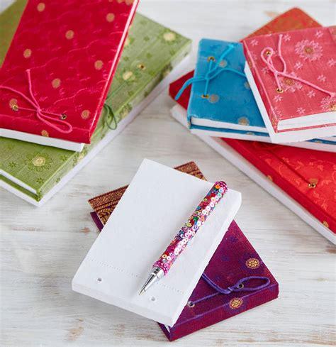 Handmade High - handmade sari notepads by paper high notonthehighstreet