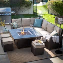 Chat Set Patio Furniture by Pics Photos Patio Sofa Sectional With Gas Fire Pit Table