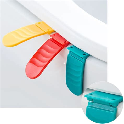 foldable toilet seat cover lifter plastic anti dirty seat