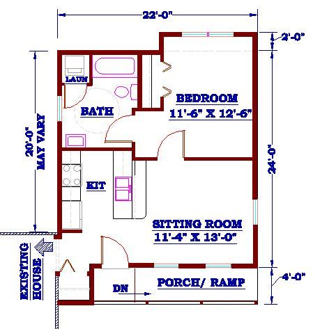 in law addition plans in law addition with kitchen homes and house plans