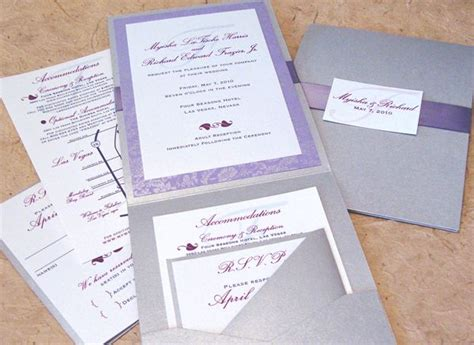 how do i put my wedding invitations together 17 best images about lilac and silver wedding ideas on