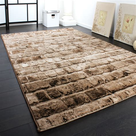 teppiche 120x170 designer carpet with wall pattern in a