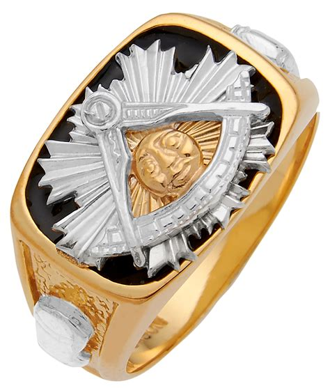 white yellow 14k 10k solid back gold masonic past master