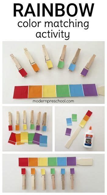 rainbow paint chip motor color matching busy bag for