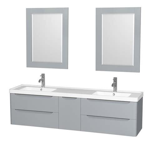 bathroom vanities double sink 72 murano 72 quot wall mounted double bathroom vanity set with