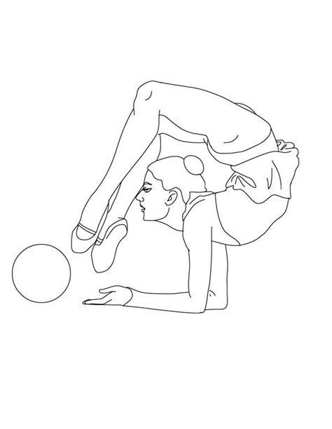 realistic gymnastics coloring pages gymnastics coloring pages pictures to pin on pinterest