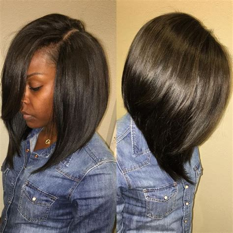 sew in long bob weave no leave love a deep side part pinteres