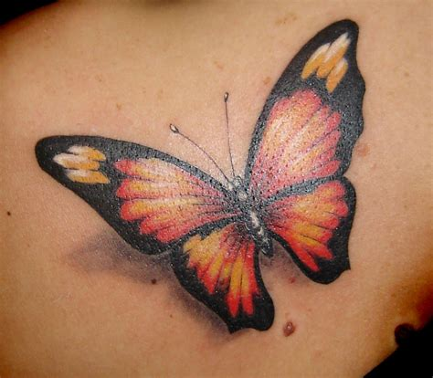 3 d tattoo 3d gun image 3d butterfly tattoos