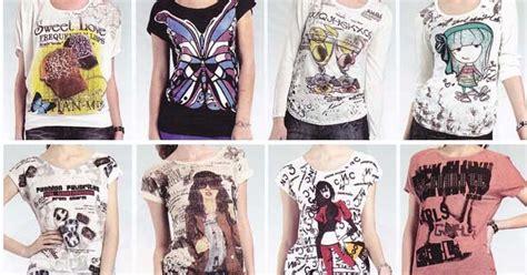 Baju Pria Busana Pakaian Kaos Distro Motif Santai Mix 2 Warna Murah 11 baju import