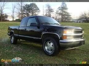 1997 chevrolet c k k1500 silverado extended cab 4x4 black