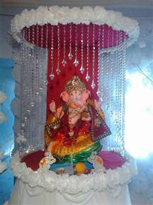 ganpati home decoration ganpati decoration ideas ganesh pooja ganpati