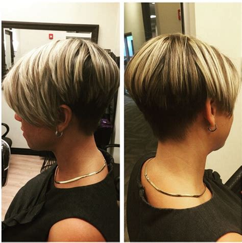 very short side view of stacked haircut pictures stacked bob very short back short hairstyle 2013