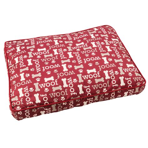 Woof Pillow by Sleep Zone Woof Pillow Bed 40 Quot Burgundy Ethical Pet
