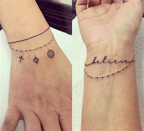 25 melhores ideias sobre tatuagem de pulseira no pulso no