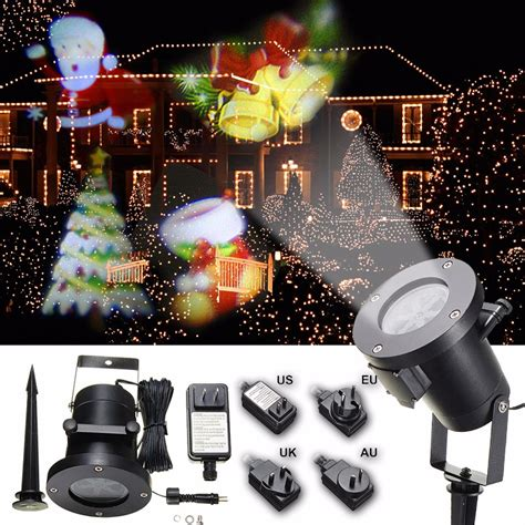 christmas pattern laser projector waterproof colorful santa claus pattern led christmas