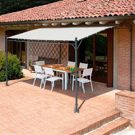 gazebo a pergola in ferro gazebo pergola 4x3 giardino terrazza top design telo